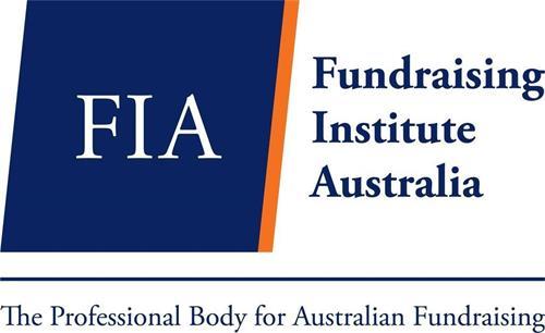 FIA FUNDRAISING INSTITUTE AUSTRALIA THE PROFESSIONAL BODY FOR AUSTRALIAN FUNDRAISING trademark
