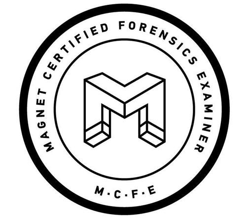 M MCFE MAGNET CERTIFIED FORENSICS EXAMINER trademark